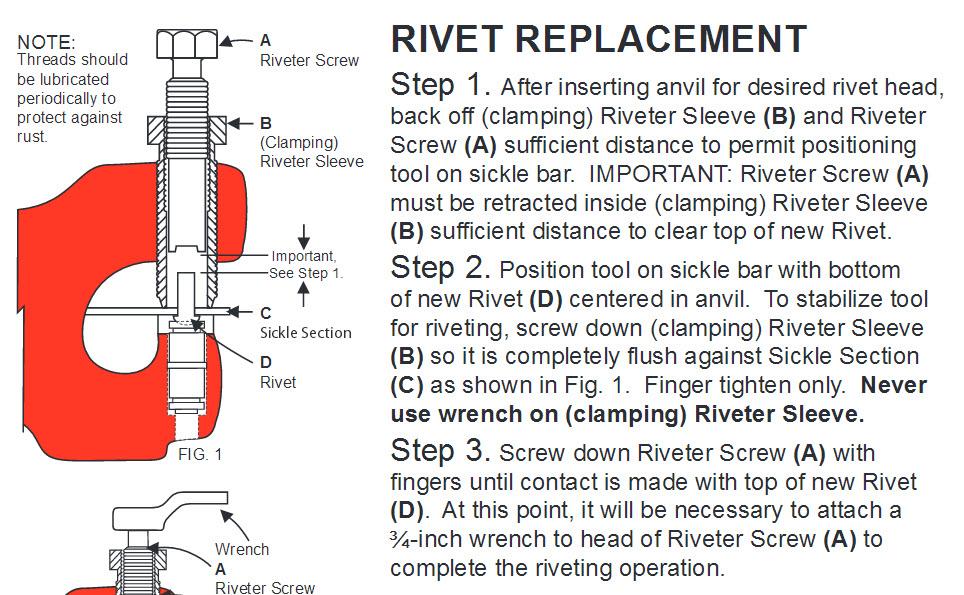 Ez Rivet Tool Carver Equipment Heavy Duty Cast Iron Rivet Construction Replacement Parts In