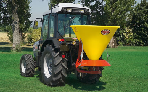 Agrex XL Spin Spreader Attached - PTO Shaft Spreader
