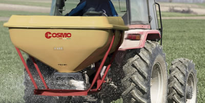 Cosmo Spin Spreader Attached - PTO Shaft Mowers